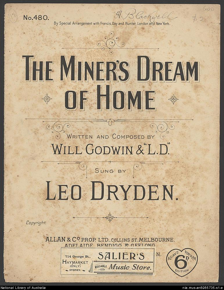1891 A miners dream of home.jpg